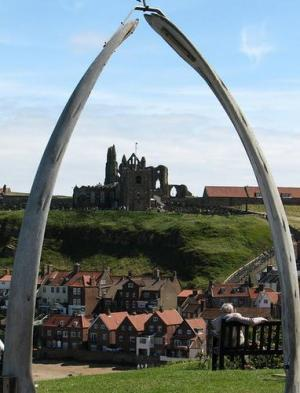 Whale Jaw Bones in Whitby, Starting point for Ghost Tours