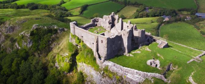 Carreg Cennen Castle, Carmarthenshire - Wales on View