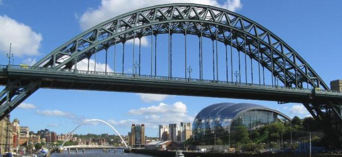Newcastle Gateshead Waterfront, North East England