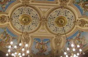 Interior of The Grand Theatre designed by Victorian theatre designer Frank Matcham