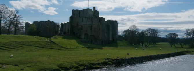 Brougham Castle alongside the River Eamont