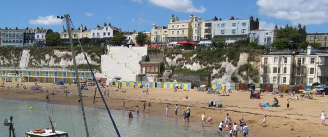 Award-winning beaches at Broadstairs, Kent Coast