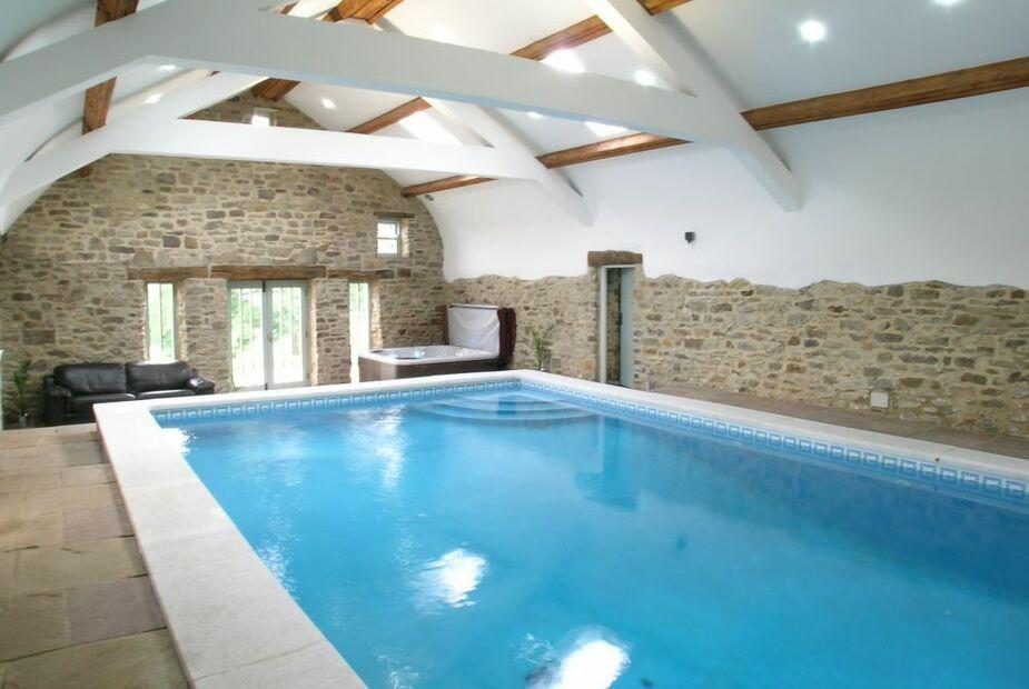 heated indoor pool and hot tub - Bowlees Cottages