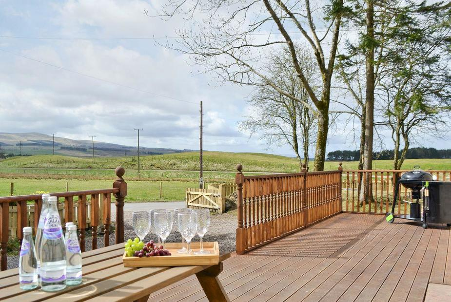 Westervale Large decked terrace at front of property | Westervale, near Crieff