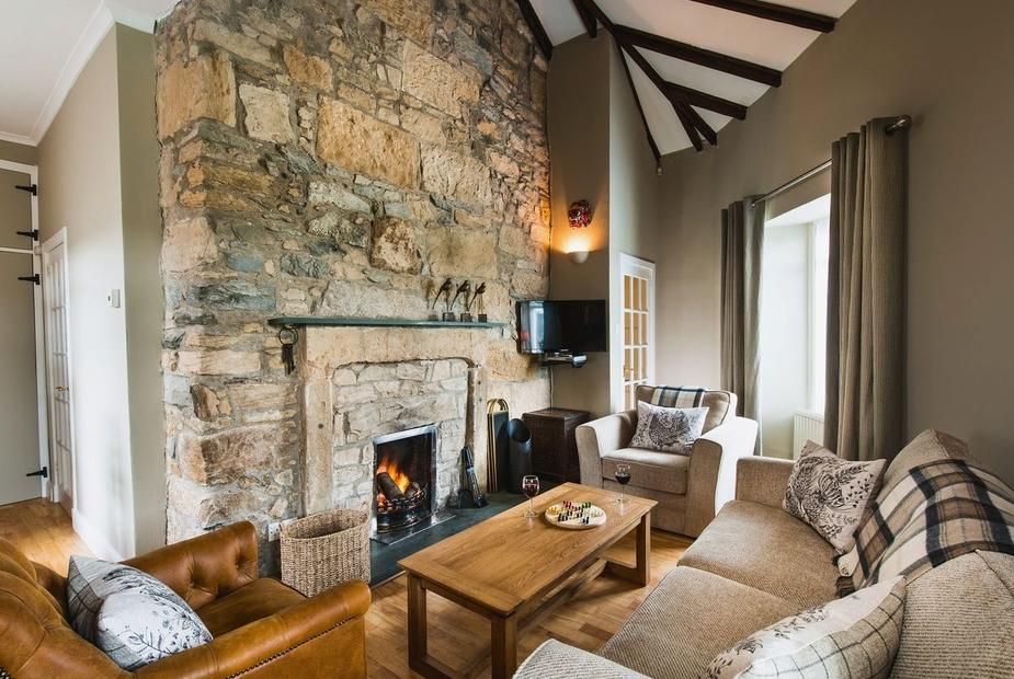 Peel Lodge Living room | Peel Lodge, Carmunnock, nr. Glasgow