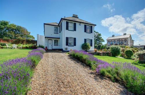 Snaptrip - Last minute cottages - Gorgeous Southwold Rental S9979 - Lavender lined driveway way
