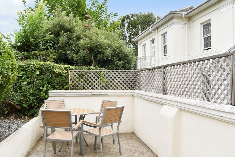 Apartment 2-UK12360 Paved patio area with table and chairs | Lincombe Hall HotelApartment 2, Torquay