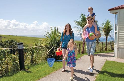 Snaptrip - Last minute cottages - Splendid Sandymouth Bay Lodge S75625 - The park setting