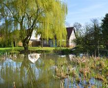 Snaptrip - Last minute cottages - Tasteful Mattishall Rental S11675 - Pond View 1