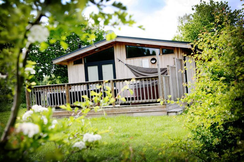The Sherwood Hideaway Luxury lodges with private decking in Sherwood Forest