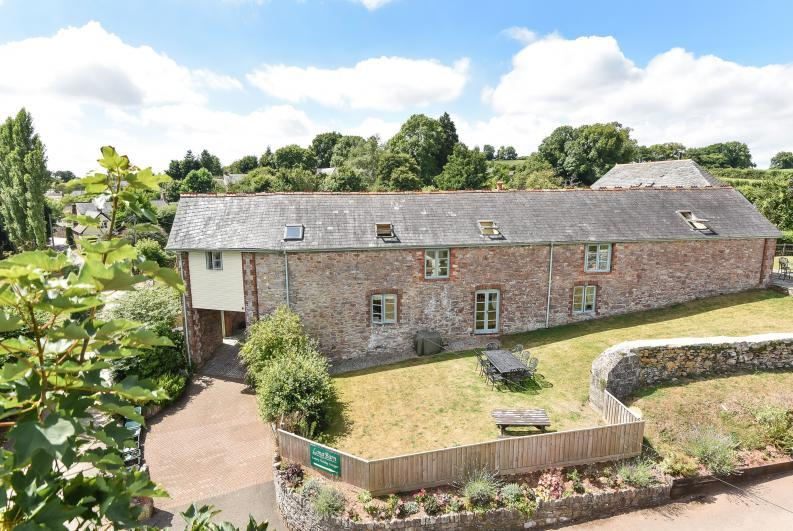 Aerial view from the road of Long Barn - Long Barn Cottage