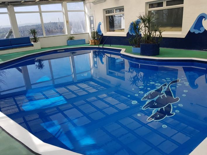 32ft private indoor pool with views from the patio available all rear around - Stoney Brow House