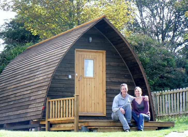 Tehidy Holiday Park Beautiful, heated Wigwam Camping Cabins