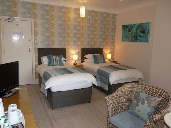 Our first floor premium twin room - The Cliffbury 4 Star Guest House