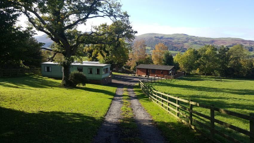 Lorton Vale Caravans & Lodge Two caravans sleeping 6 and one lodge sleeping 5.