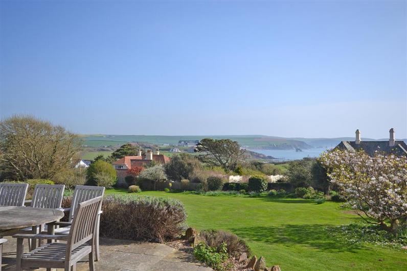 West Wing terrace and views_R - Views of Thurlestone Rock from West Wing