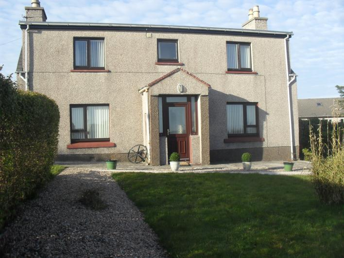 Front view of cottage leading on to garden area - The Braes Stornoway