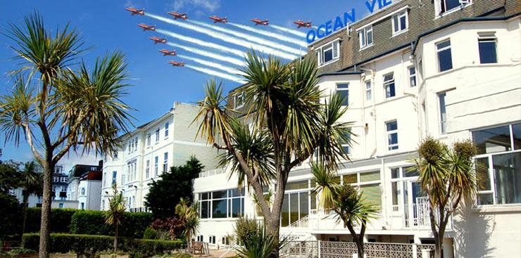 The Ocean View over the Bournemouth Air Show - Ocean View Hotel