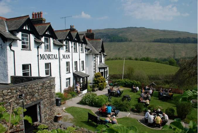 Offering luxury B&B accommodation with views over the Troutbeck Valley, ideal for mid week breaks. - The Mortal Man Inn