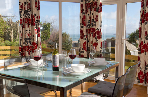 Snaptrip - Last minute cottages - Attractive Saint Ives Watch S1236 - Views from dining area