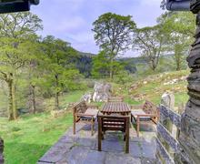 Snaptrip - Last minute cottages - Stunning Machynlleth Rental S11181 - WAH254 - Patio and View from Living Room