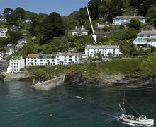 Snaptrip - Last minute cottages - Delightful Cornwall Polperro Cottage S58503 - Nepenthe with arrow