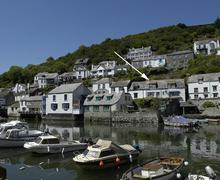 Snaptrip - Last minute cottages - Attractive Cornwall Polperro Cottage S58710 - Terrills with arrow