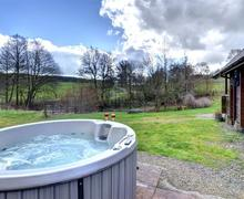 Snaptrip - Last minute cottages - Cosy Knighton Lodge S44742 - WAK296 - Hot Tub
