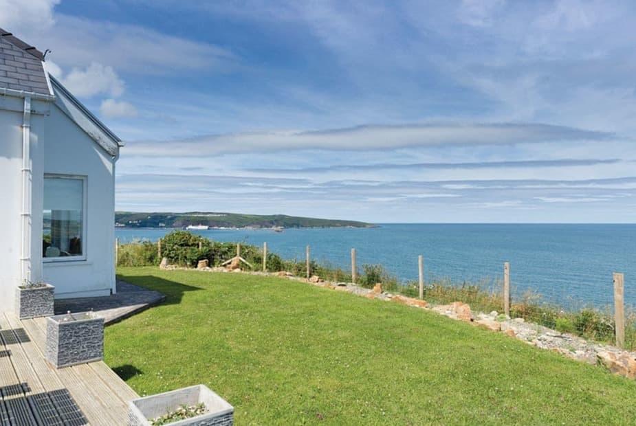 Sea view property at Fishguard Bay Holiday Resort