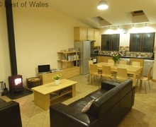Snaptrip - Last minute cottages - Luxury Llanbrynmair Cottage S57862 - Cosy open plan living area at Cwmbach y Biga forest holidays, Wales