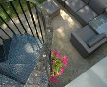 Snaptrip - Last minute cottages - Excellent Newick Cottage S60734 - A private patio at the foot of the spiral staircase