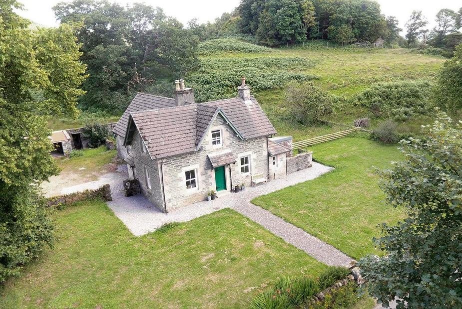Aerial view of cottage | The School House - Ederline Estate, Ford, near Lochgilphead - The School House
