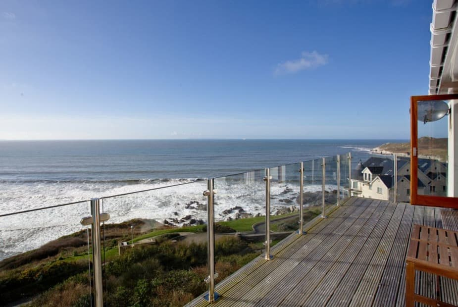 Wraparound terrace with panoramic sea views | Blue Horizon, Woolacombe - Blue Horizon