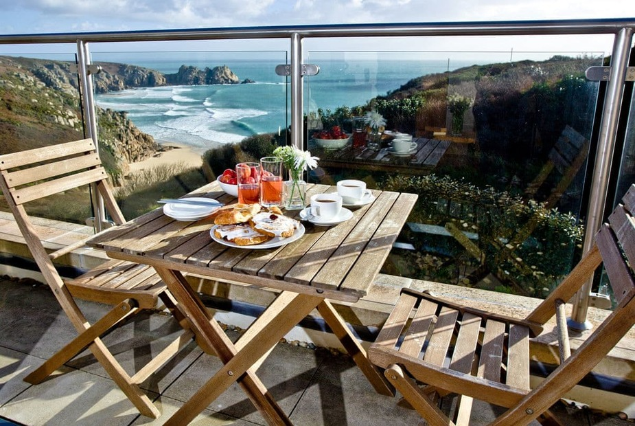 Balcony | Cove View, Cyan, Porthcurno - Cove View