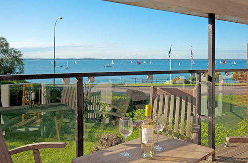 Snaptrip - Last minute cottages - Excellent Yarmouth House S1856 - Balcony with views across The Solent