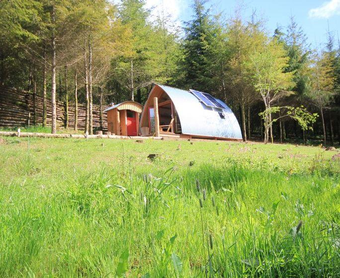 Devon Dens and Carpenters Cabin The Devon Den in two acre woodland