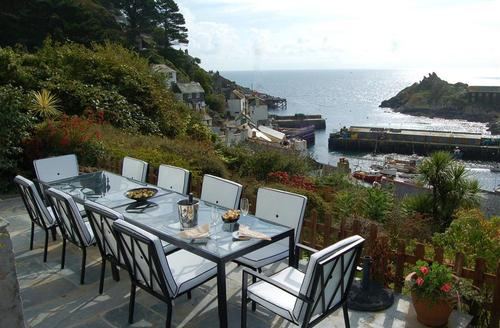 Snaptrip - Last minute cottages - Attractive South Cornwall Rental S26513 - Patio area with harbour views
