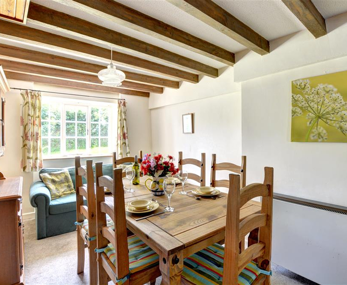 Well Farm Cottage Dining area