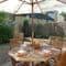 Little Garth, Kingham Outside: a sunny corner of the garden