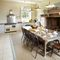 East House, Cheswick Ground floor: Large country-style kitchen with inglenook fireplace