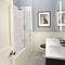 East House, Cheswick First floor: En-suite bathroom with bath and shower over