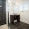 Slowpool & Littlepool, Offwell, near Honiton Ground floor: The Bluebell bedroom's en-suite shower room