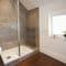 Slowpool & Littlepool, Offwell, near Honiton First floor: The Oak bedroom's en-suite shower room