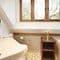 Slowpool & Littlepool, Offwell, near Honiton Littlepool: En-suite bathroom with overhead shower
