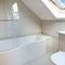 Keeper's Lodge, Thirsk First floor: En-suite bathroom with shower over bath