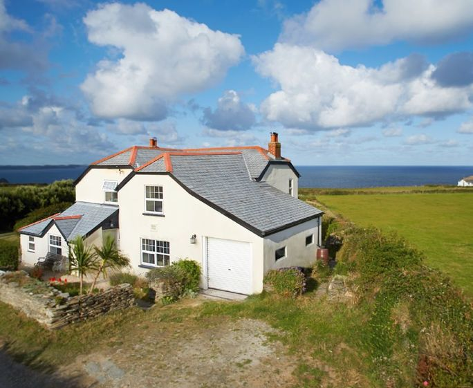 Merlins Cottage, Trevellick, Tintagel Merlins Cottage with its panoramic sea views