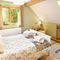 Deerpark Lodge, Staunton Harold, Ashby-de-la-Zouch First floor: Double bedroom with 4'6 bed