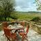 Cwm Bach, Dinas Cross, Newport French doors from sitting room to patio with barbecue