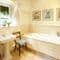 Bellhouse, Near Nympsfield Ground floor:  Bathroom with separate shower