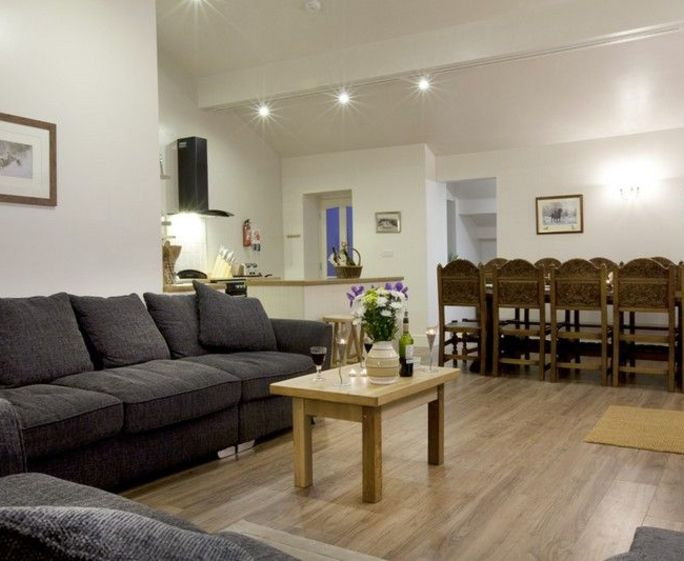 Bramble Bottom The convivial lounge/kitchen/diner - perfect for chilling out